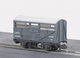 Peco NR-45M L.M.S, Cattle Wagon, Grey Livery